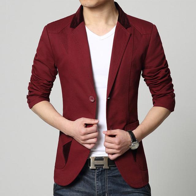 Hombres slim fit chaqueta de la chaqueta más el tamaño 2017 Resorte de La Manera Pura empalme Gran bolsa de algodón chaqueta de Los Hombres Casual Flaco chaqueta muchachos de la capa