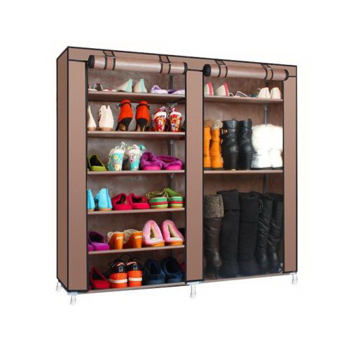 Double Rows 6 Layer 9 Lattices Shoe Rack Shelf Storage Closet Organizer  Cabinet US In Shoe Cabinets From Furniture On Aliexpress.com | Alibaba Group