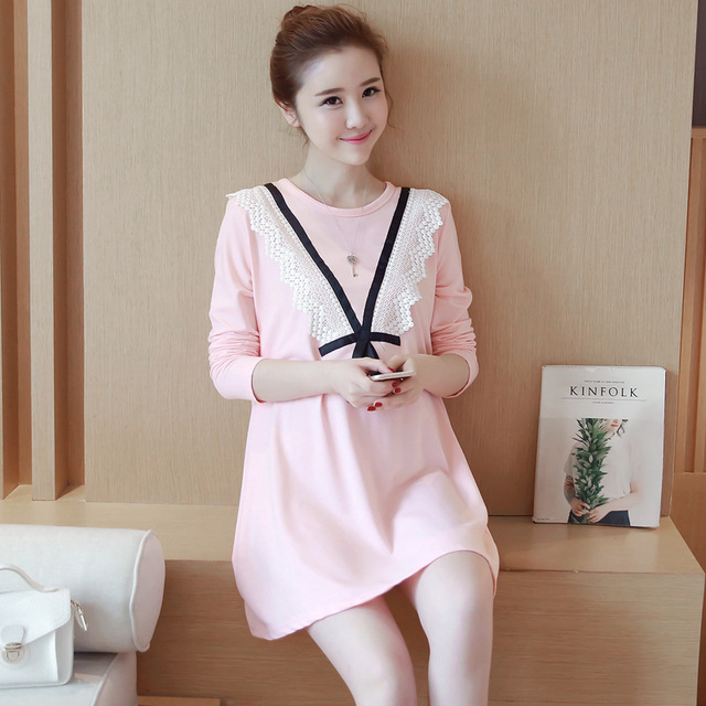 c647c561666d8 Autumn Maternity Dress Clothes Casual Maternity Dresses Pregnancy Dress  Pregnant Women Loose Clothes Women Clothing YL215