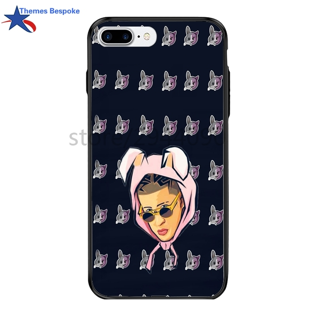 outlet store c5c71 6c8f1 US $9.0 |Bad Bunny For Iphone 7/8plus With Lanyard Printed Picture Hard  PC&TPU Plating Button Cover For Iphone 6/X/7plus/6s Plus-in Fitted Cases  from ...