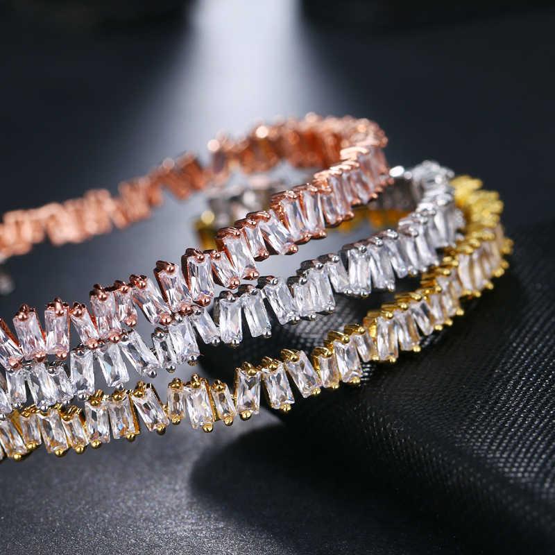 EMMAYA Gold สีสร้อยข้อมือกำไลข้อมือ AAA Cz ลูกปัดกำไลข้อมือและกำไลข้อมือสำหรับผู้หญิงแฟชั่นเครื่องประดับ Pulseiras