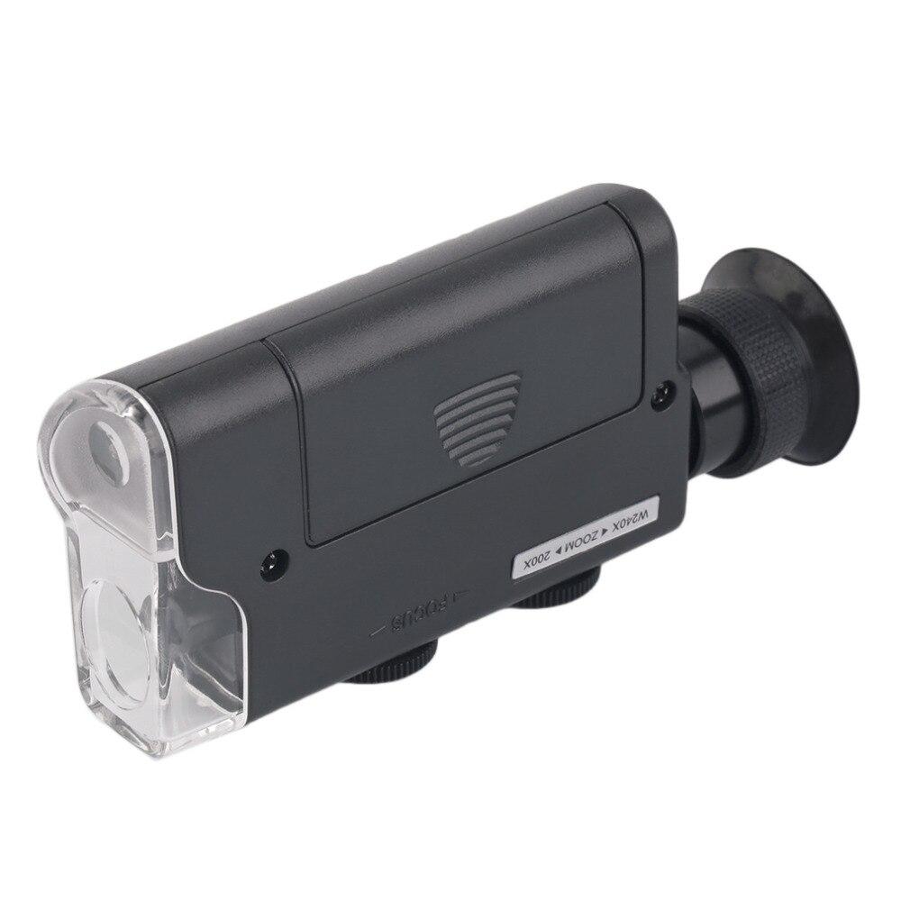 2017 m. NAUJAS Mini nešiojamas mikroskopo kišenė 200X ~ 240X - Matavimo prietaisai - Nuotrauka 4