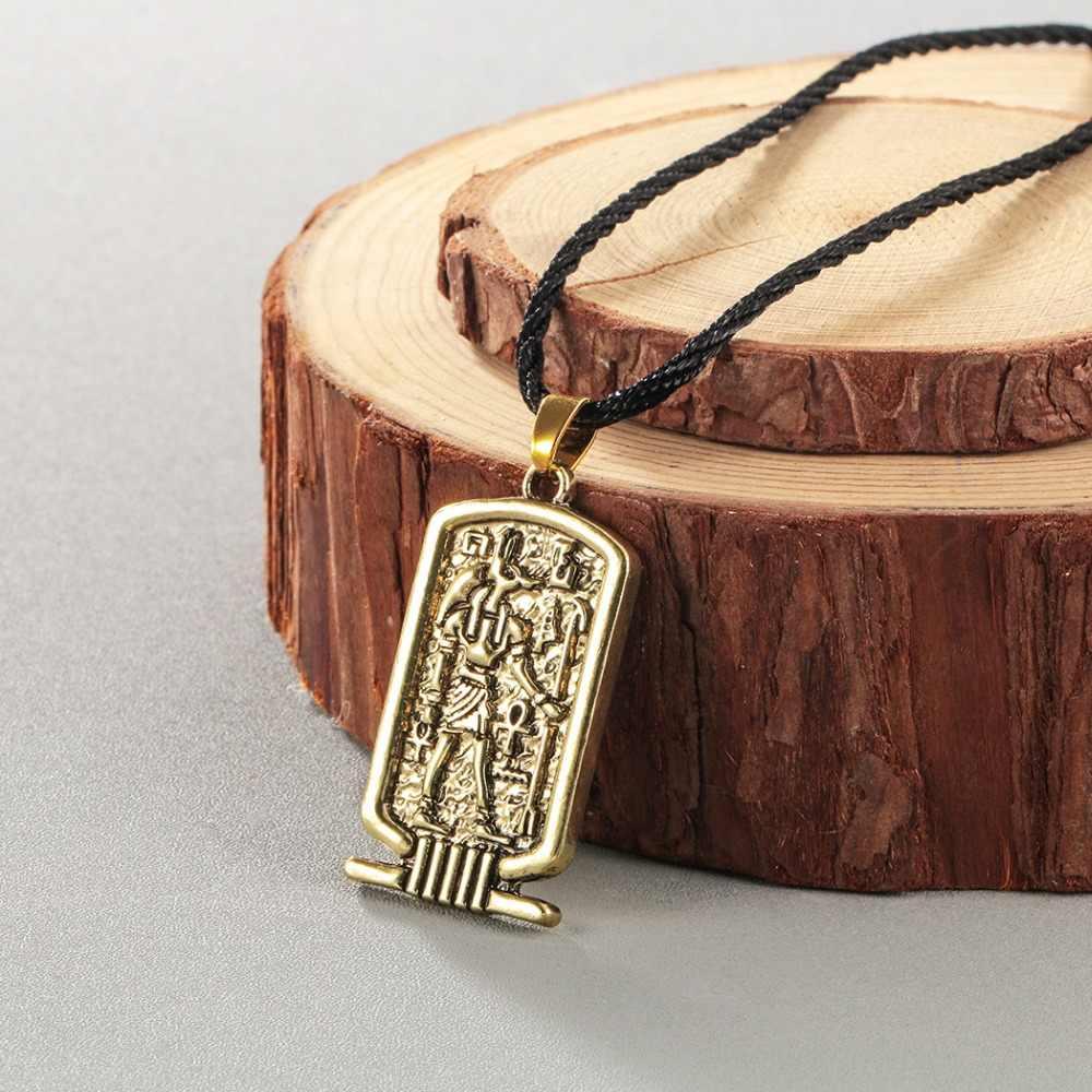 Chandler Anubis wisiorek naszyjnik starożytny egipt religijne biżuteria egipski hieroglify starożytnego wschodu indii biżuteria etniczna Dropship
