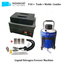 FS06 F10 морозильник с жидким азотом Экран сепаратор/дробилка для переработки со встроенным насосом+ 10L топ на бретелях+ Формочки Для samsung край Стекло разделения