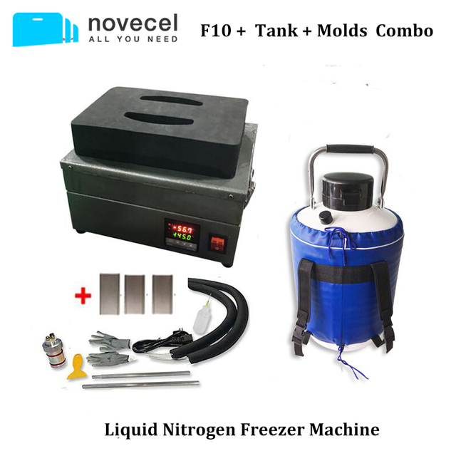 FS06 F10 Liquid Nitrogen Freezer Screen Separator Machine with built in pump+10L tank+molds For Samsung Edge Glass Separating