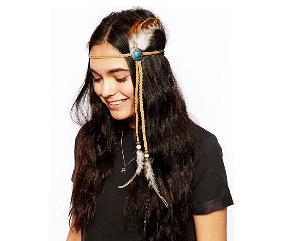 Indian Wild Style Feather with Turquoise Hair wear