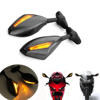 2PCS Motorcycle Rearview Carbon Mirrors LED Turn Signal for Yamaha YZF R1 R6 FZR600 FAZER YZF600 FZS1000