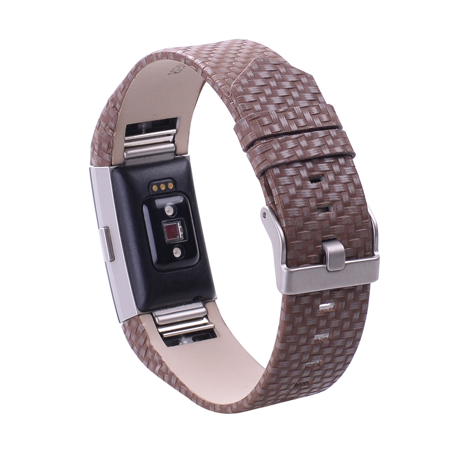 genuine leather wrist strap for fitbit charge 2 smart bracelet replace band for fitbit charge 2