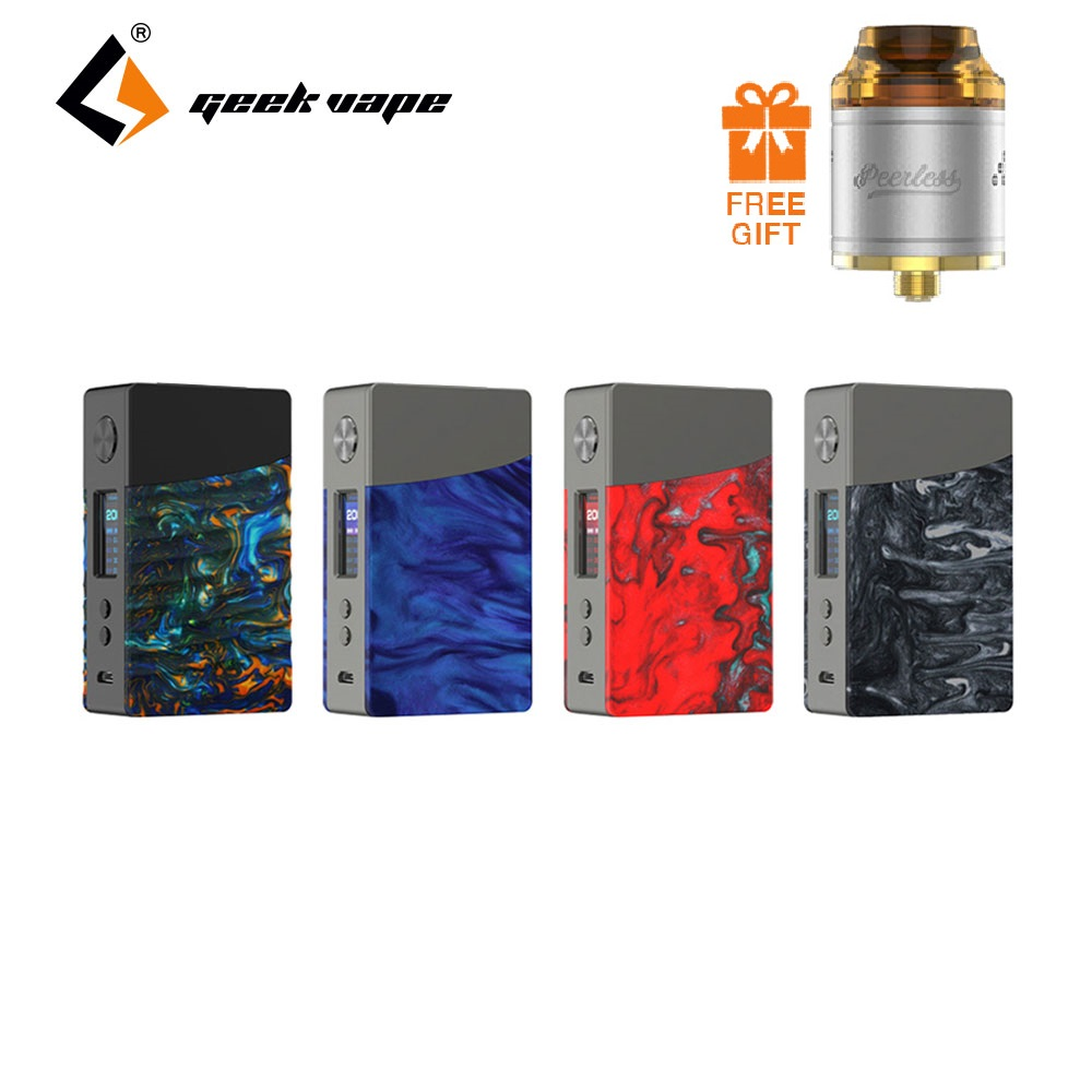 Free Gift Tank! Original GeekVape NOVA 200W TC Box MOD w/ Advanced AS Chip E-cig Vape Mod No Battery VS Drag Mod/Cylon Mod used good condition mod no 503 ser no 2097014 with free dhl ems