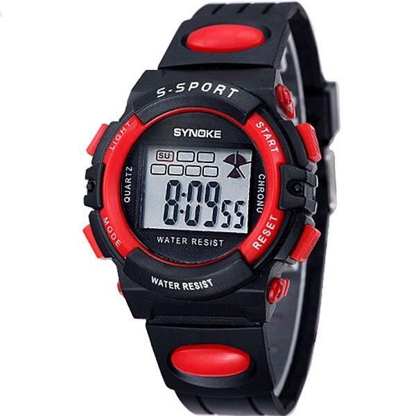 Kids Favored Waterproof Relojes Children Boy Digital LED Relogio Quartz Alarm Date Sports Wrist Watch