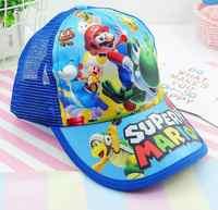 Gorra de béisbol con dibujos animados de Super Mario, gorro ajustable con dibujos animados para el sol, talla ajustable de 48-62cm, 1 Uds.