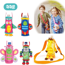 AAG Water Bottle Cover Baby Cup Plush Pouch Cute Cartoon Animal Children Bottles Storage Messenger Holders Sets *