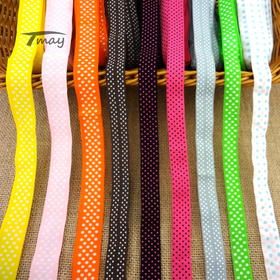 #1173 FOE Foldover Elastic Band Baby Infant Headband Lace Trim Stretch Lace Ribbon Riband Tape HairBands Pants Underwear Sewing
