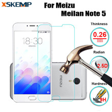 XSKEMP 2.5D Premium Tempered Glass Screen Protector Film Explosion-proof For Meizu Meilan Note 5 No Fingerprint Protective Guard