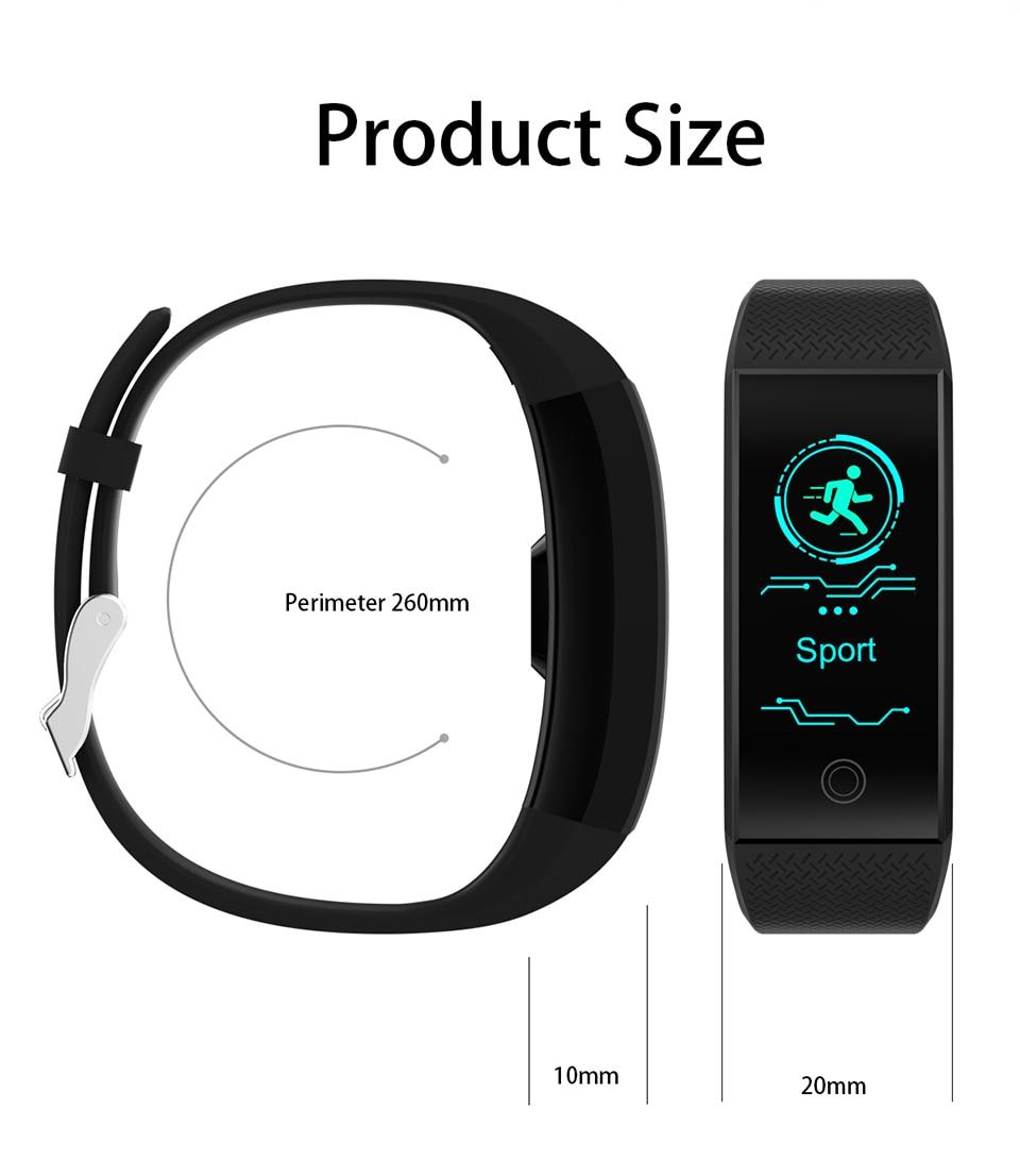 HTB1YJDMDrGYBuNjy0Foq6AiBFXa2 TimeOwner Smart Bracelet Waterproof Heart Rate Monitor Smart Band Sport Passmeter Calories Mileage Multi Sport Fitness Tracker