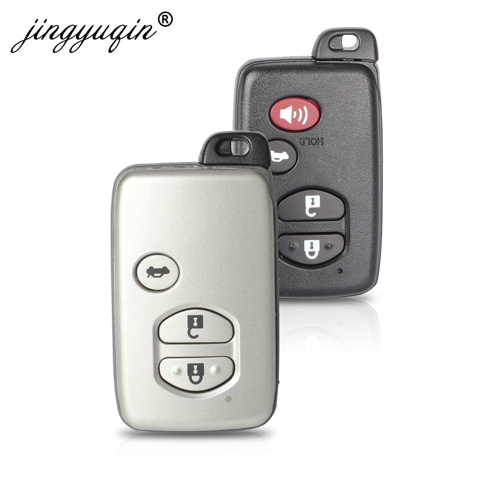 jingyuqin Smart Remote Key Case 3/4 Buttons Fob Shell For Toyota Aurion Avalon Landcruiser Camry Highlander RAV4jingyuqin Smart Remote Key Case 3/4 Buttons Fob Shell For Toyota Aurion Avalon Landcruiser Camry Highlander RAV4
