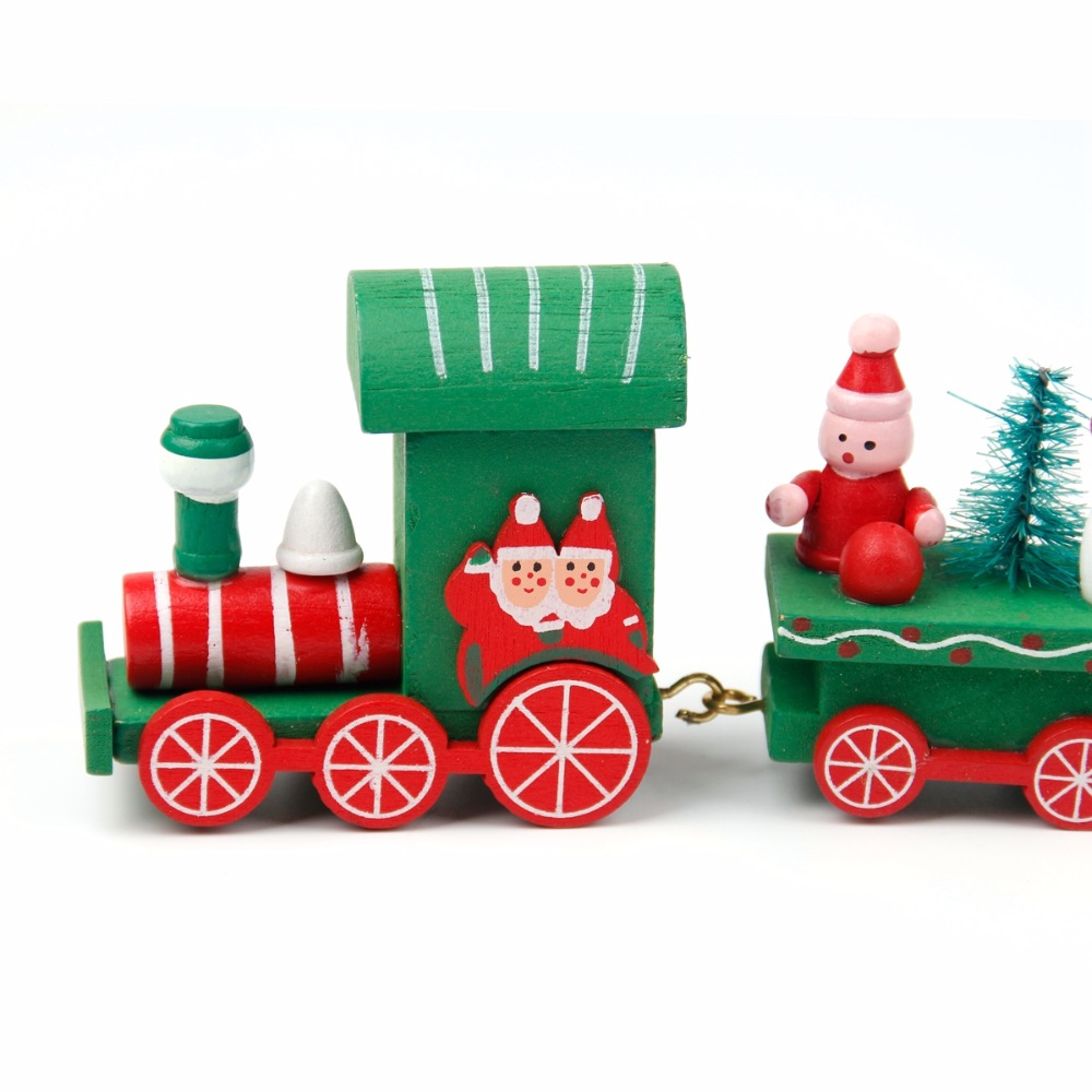 fengrise xmas wooden train christmas decorations for home santa claus christmas ornaments happy new year 2018 gifts for children in pendant drop ornaments
