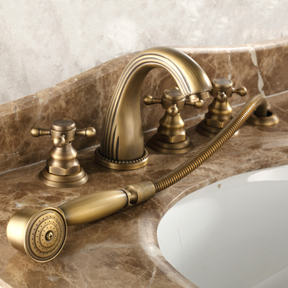 Superb Us 196 0 Full Copper Hot And Cold Bath Faucet Five Piece European Style Bronze Bath Side Split Five Piece Shower Faucet Tl076 In Basin Faucets From Download Free Architecture Designs Intelgarnamadebymaigaardcom