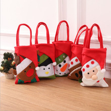 Snowman elk Santa Claus Penguin gingerbread man Handbag felt santa bag christmas gift bags XMAS children candy holder 2017