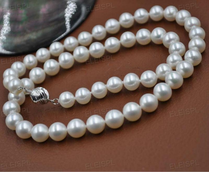 Fermoir AAA 14 KGOLD 7.5-8mm collier de perles rondes de haute qualité 17