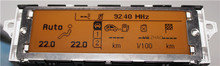 Soporte de pantalla USB de Doble zona de aire Bluetooth monitor de Pantalla amarilla 12 pin para Peugeot 307 407 408 citroen C4 C5 pantalla pantalla