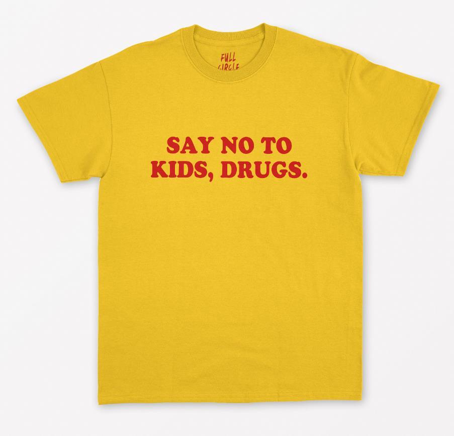 Say No To Kids, женская футболка с красными надписями, хлопковая Повседневная футболка для женщин, топы, футболки Tumblr, хипстер, Прямая поставка, новинка 109|Футболки|   | АлиЭкспресс