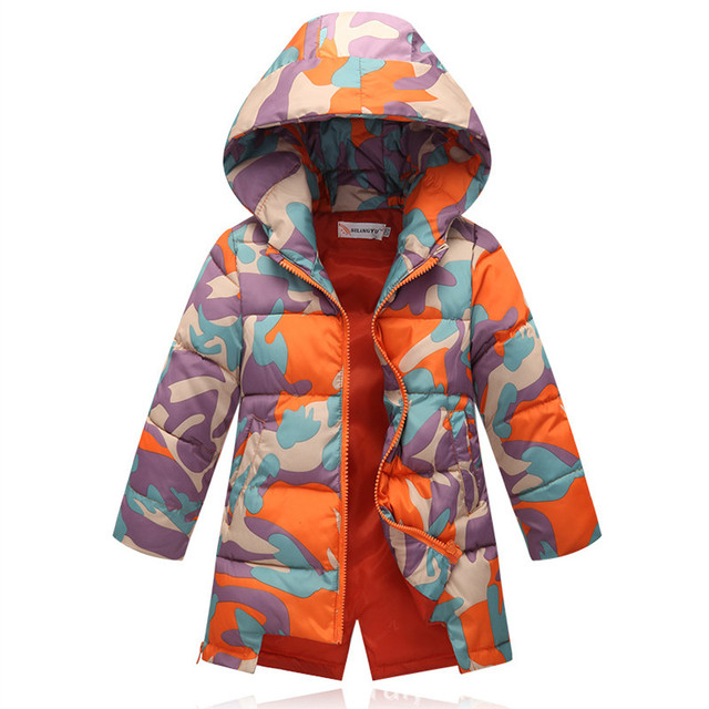 Kids Parka Girls Boys Children's Clothing Winter Jacket Long Down Coat Thickening Children Outerwear Warm Kids Hooded Jacket