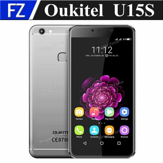 "Original Oukitel U15S 4G LTE smartphone 5.5"" FHD Android 6.0 MTK6750 octa core 16MP 4gb ram 32gb rom dual sim fingerprint OTG"