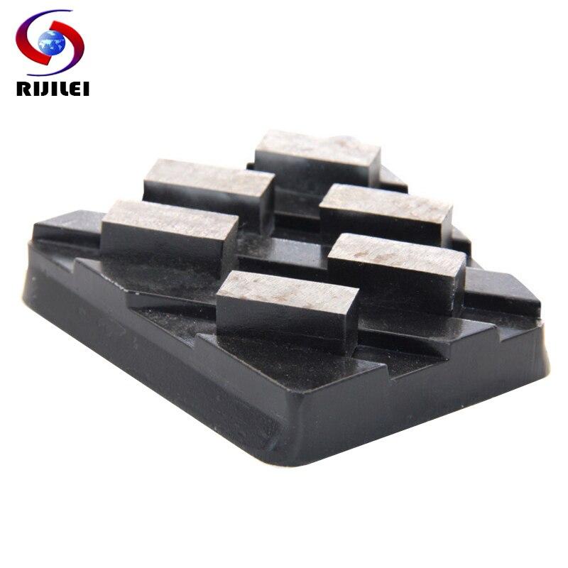 RIJILEI 10PCS Set Frankfurt Diamond Grinding Brick Marble Metal Bond Diamond Gringding Tool Diamond grinding block