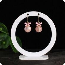 Акриловый круглый держатель для сережек, подставка для сережек, ювелирный дисплей, органайзер для сережек, кристаллов