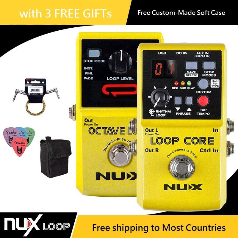 NUX Loop Core/Octave Loop effet guitare pédale Looper pédale effet guitare avec * câble Patch gratuit et étui à pédale et médiators *