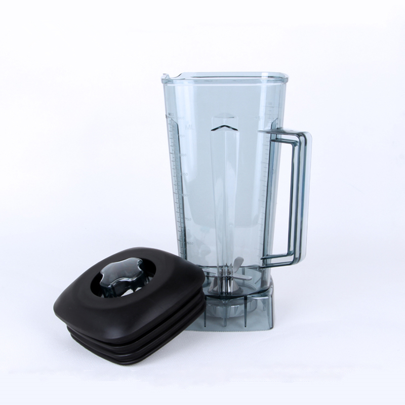 Blender jar 2l with Mixer blade lid commercial Blender parts accessories kitchen aid blender aspas para licuadora blender parts buttom fix pannel 74mm for commercial blender