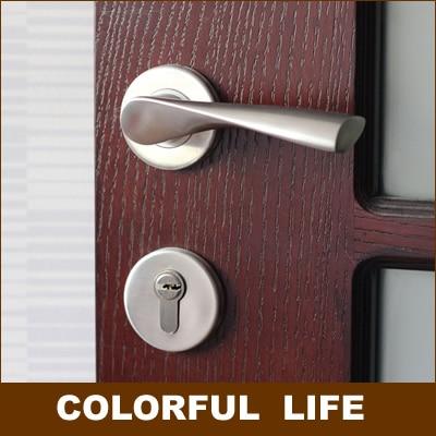 Modern minimalist high-grade door clock,Genuine SUS304 stainless steel, interior solid locks, split door locks