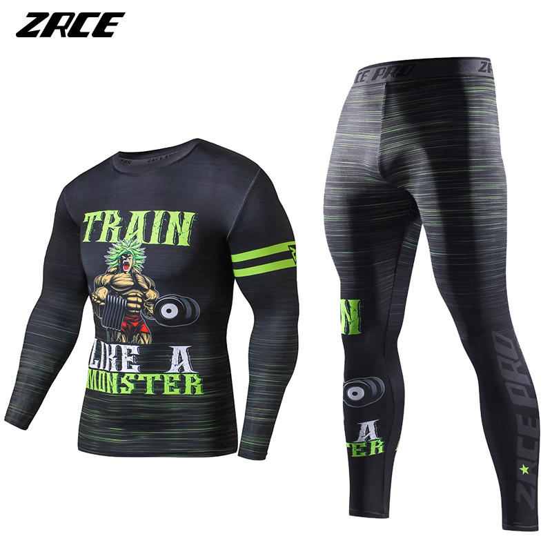 ZRCE Mens Tracksuit Set Fashion Dragon Ball Sportswear Men's Winter Wear Suit Costume For Men 3d Print BrandClothing