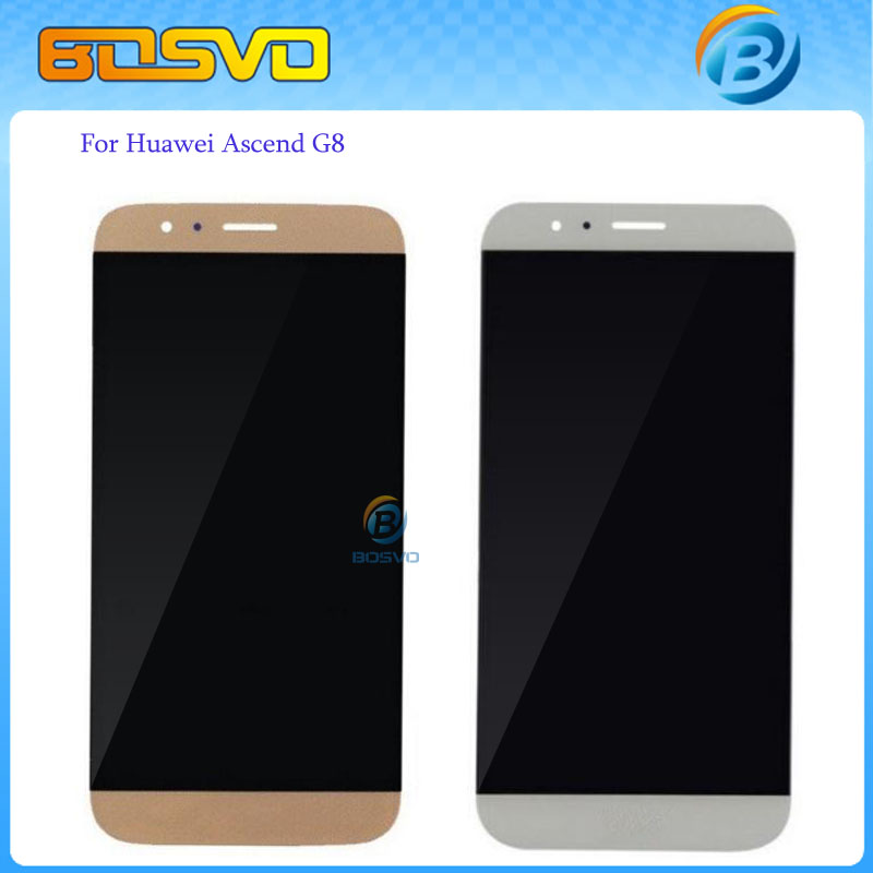Free DHL EMS shipping Replacement lcd for Huawei Ascend G8 display screen with touch digitizer assembly RIO-L01 RIO-L02 10 pcs free dhl ems shipping warranted lcd for huawei g700 screen display with touch digitizer white black color tools 10 pieces a lot