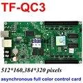 TF-QC3 USB + сетевой порт полноцветный асинхронный привело плату управления 512x160, 384x320 пикселей поддержка видео RGB модуль контроллера