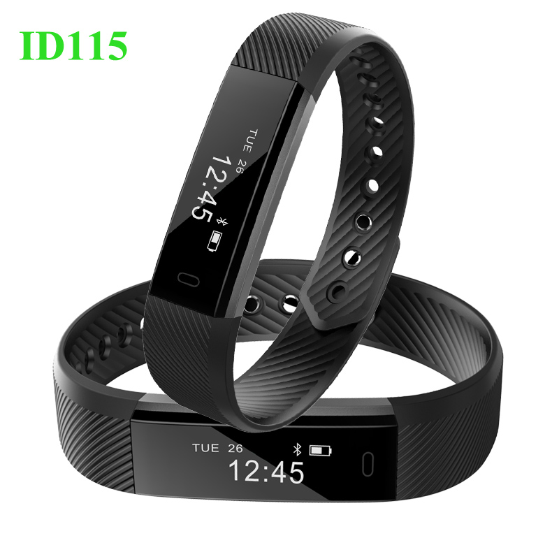 ID115 Smart Bracelet Touch Screen Fitness Tracker Watch Clock Wristband for iphone Android Smartband pk Fitbit