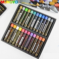 MUNGYO  Metallic and fluorescent  12/ 24 colors gallary  Artists Oil pastels Mop series Oil paint  ART drawing pastels|Oil Paints| |  -