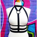 New arrived sexy lady bondage cup-less bra with suspenders belt club women caged binding garters underwear sexy bondage belt