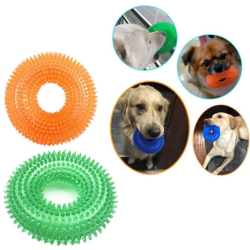 Pet Toy Bite Proof Squeak Chew Toy Ball Rubber Sound For Large Dogs Training Funny Pet Rubber Chew Big Dog Toys Randomly Sent in Dog Toys from Home Garden