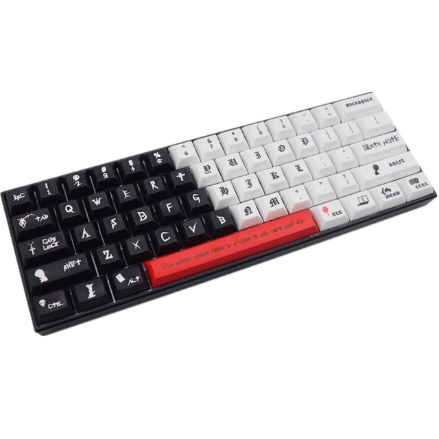 New arrival DSA pbt keycap dye sub keycaps 61 keys For cherry mx switch