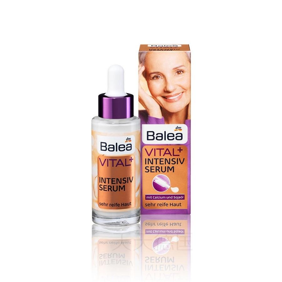 Balea, Германия, Vital + Интенсивная сыворотка для зрелой кожи, аргановое масло, витамин Е, подтягивает кожу, против морщин, Высокоэффективная фор