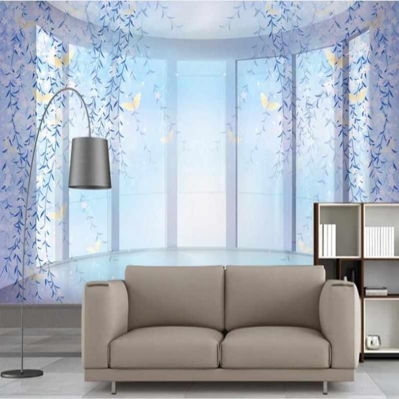 Beibehang пользовательские большие фрески яркий фиолетовый плетеная фантастические 3D фоне стены обои papel де parede para кварто