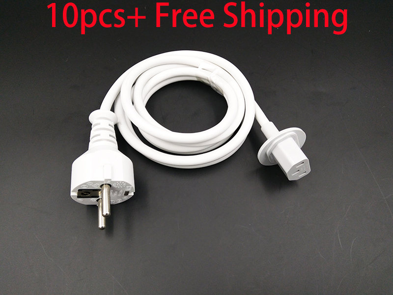 Free Shipping 10pcs of New Original Power Cable For iMac EU Power Cord Plug Fits Year