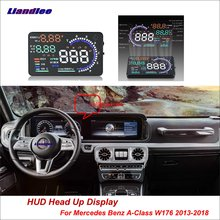 купить Liandlee Full Function HUD Car Head Up Display For Mercedes Benz A-Class W176  Safe Driving Screen OBD Data Projector Windshield дешево