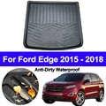 Для Ford Edge 2015 2016 2018 2017 Авто задняя загрузка грузовой лайнер багажник Пол коврик ковер лоток коврики S коврик S Анти-грязный