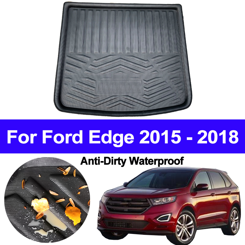 For Ford Edge 2015 2016 2017 2018 Car Auto Rear Boot Cargo Liner Trunk Floor Mat Carpet Tray Mats Pad Mat Carpets Anti-dirty