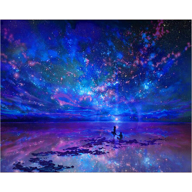 Blue starry sky diamond Embroidery diy diamond painting mosaic diamant painting 3d cross stitch pictures H595