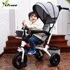 Nuovo di Zecca 1-6 Anni di Bambino triciclo di Alta qualità sedile girevole bambino triciclo bicicletta bambino buggy passeggino BMX Bambino auto Moto