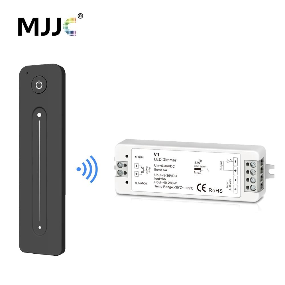 12V LED Dimmer PWM Wireless RF 2.4G Touch Remote Controller 12V 5V 24V 36V 8A Dimmer Switch For Single Color LED Strip Light